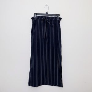 NWT ASOS Drawstring Pinstripe Midi Skirt